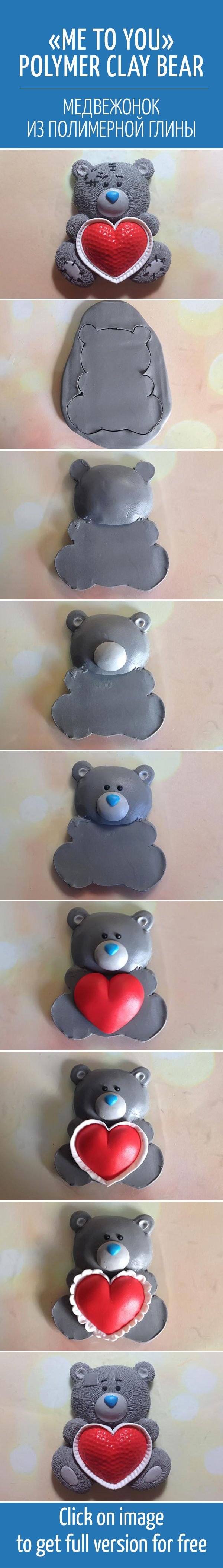 Me to you polymer clay bear diynot mine but like the pictures for idea...