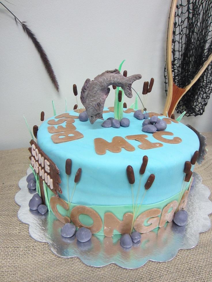 1000 Ideas About Fishing Theme Cake On Pinterest