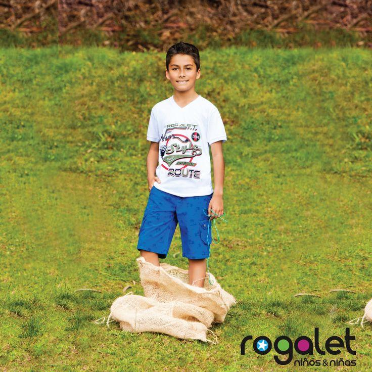 Niño: pantalón corto junto camiseta estampada