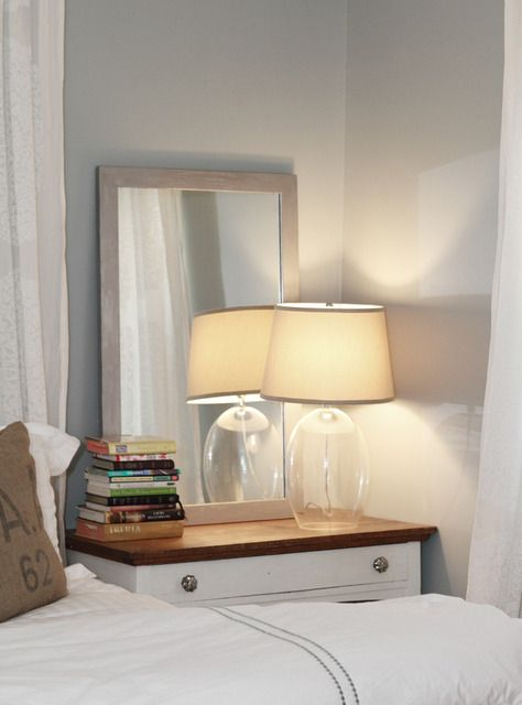 25 Best Ideas About Mirror Behind Nightstand On Pinterest Small Master Bedroom Beige Bedside