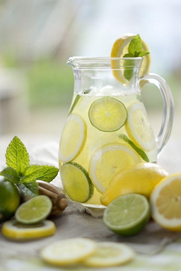 Citroen detox water voor een stralende gehydrateerde huid!!