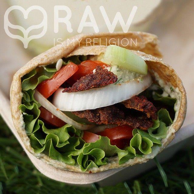 Raw vegan gyros wrap by @rawismyreligion