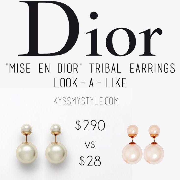 Real Vs. Steal   Dior Mise En Dior Tribal Earrings Look-a-like   kyssmystyle.com