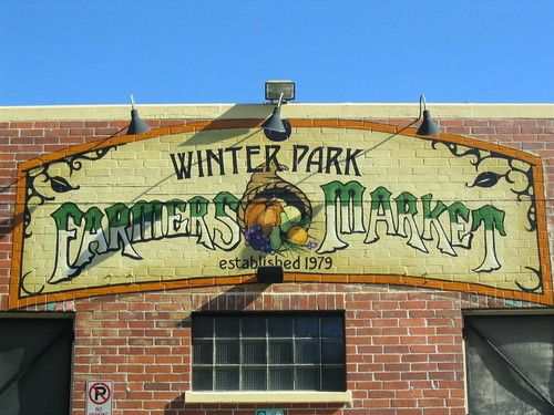 Winter Park, Florida - every Saturday morning....BEST farmers market & worth a drive.