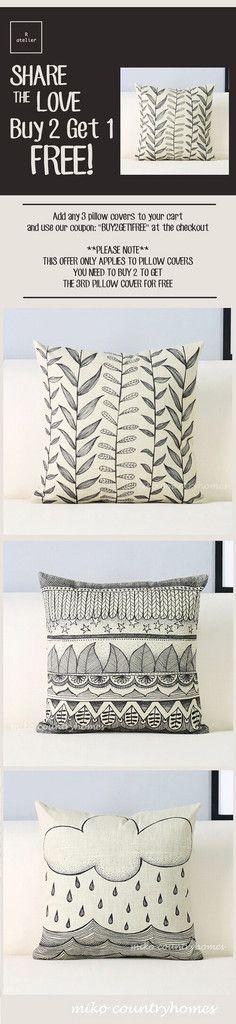 $15   Modern Geometric Art   Decorative Pillow Cover – R.atelier #HomeDecor…