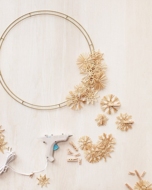 Polish straw star wreath how-to
