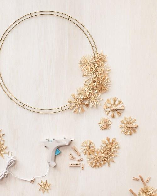 Polish straw star wreath how-to