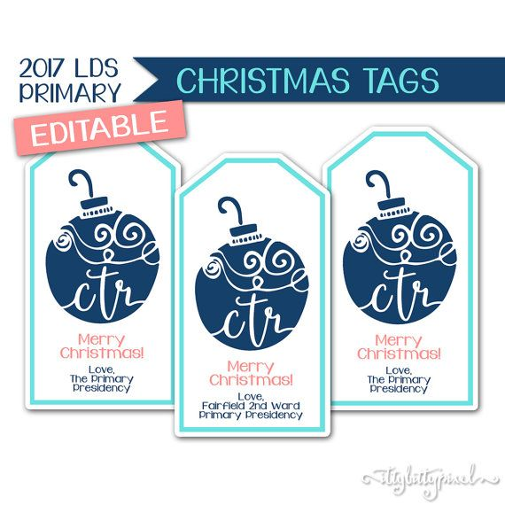 Christmas Tags  LDS Primary 2017 Theme Editable by IttyBittyPixel