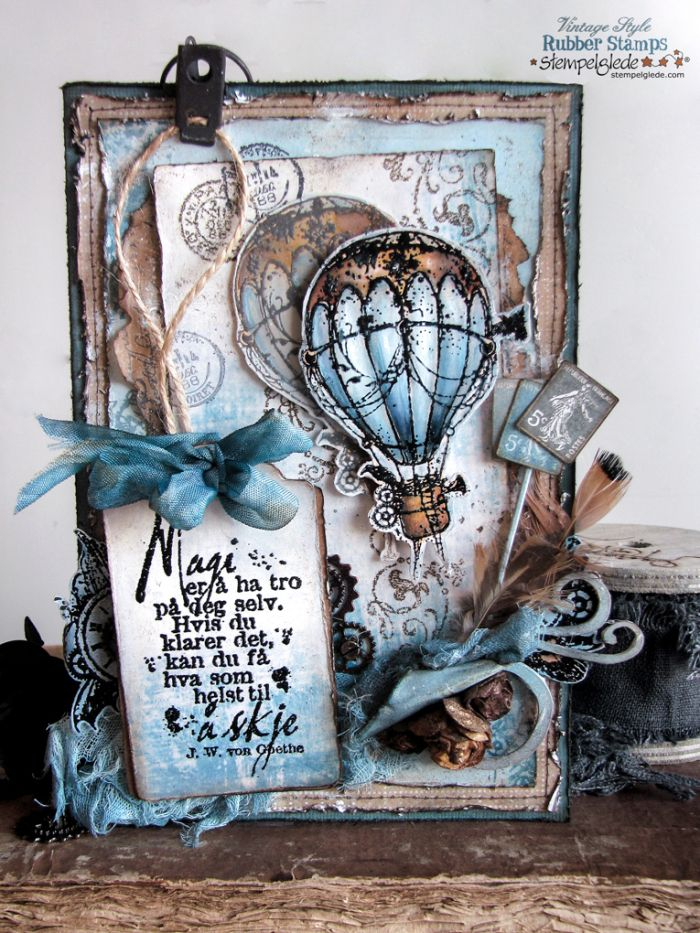 Steampunk Hot Air Balloon Card - Gunhild J. G. Bay - Stempelglede :: Design Team Blog