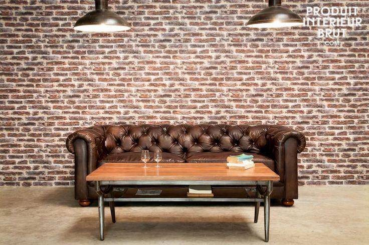 Una verdadera leyenda entre los sofás de cuero, comodidad y absoluta elegancia con este precioso Chesterfield.