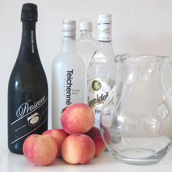 One for my must try list, this Sparkling White Peach Sangria Cocktail by Polka Dot Bride including white peaches and Brown Brothers Winery Prosecco. #proseccotime    http://www.polkadotbride.com/2013/02/cocktail-friday-sparkling-white-peach-sangria/