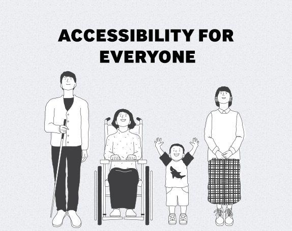 Accessibility For Everyone - 삼성의 접근성은 제품을 손쉽고 편리하게 사용하는 것을 넘어 신체적 제약이 있는 사용자들의 역량과 잠재력을 강화할 수 있는 방법을 고민합니다. 그리고 삼성의 제품과 서비스를 통해 그들의 인생을 어떻게 바꿀 수 있을 지를 상상합니다.
