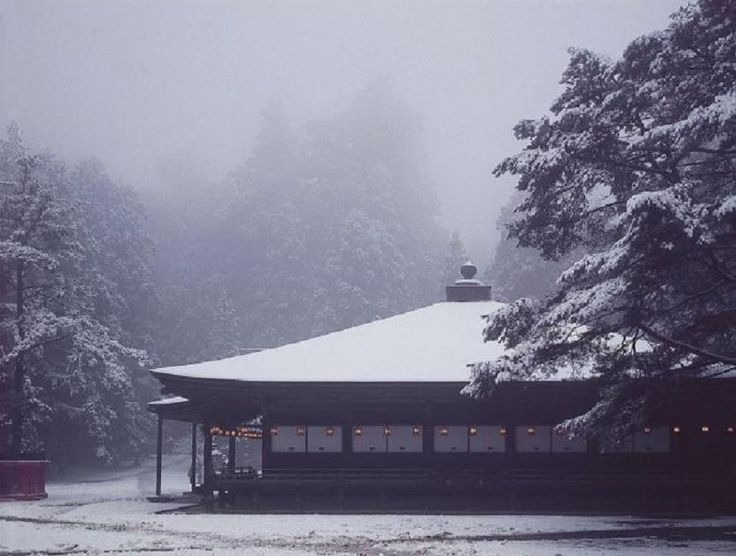 Koyasan Miedo Winter Snow Japan Japanese Shrine Temple Nature Wallpaper Android. Take a look at this nice wallpaper!