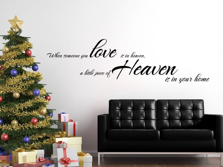 Touching quote:When someone you Love is in Heaven,a little Piece of Heaven is in your home.  Available in over 20 colours and all personalisation is free!!