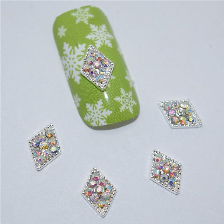 10Pcs new Color glitter, 3D Metal Alloy Nail Art Decoration/Charms/Studs,Nails 3d Jewelry #108