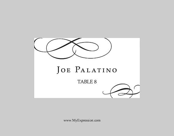 wedding place card templates free