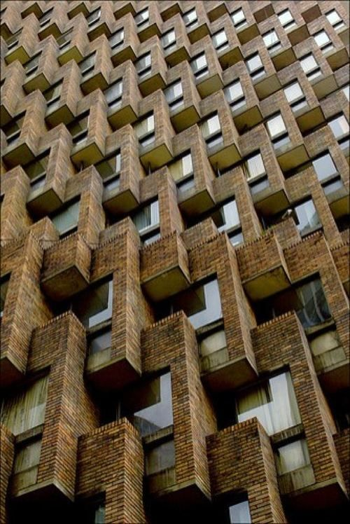 Beauty of repetition in tower Bogotá, Colombia