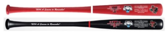 Texas Tech CWS Commemorative Bats.. Unique Christmas Gift Your Choice, Save $30 When you like Legacy Bats on Facebook....