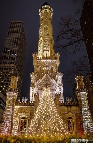 Chicago Water Tower at Christmas. You know how I feel about that holiday, but maybe going to my fave place would make it better? One year we have to do this!