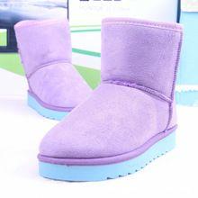 Kış Çizmeler Kadınlar Için 2016 Sıcak Satış 2017 Yeni Kadın Ayak Bileği ayakkabı Sonbahar Bot Bayanlar Hakiki Çizmeler Kar Lüks Marka Siyah Keçe(China (Mainland))