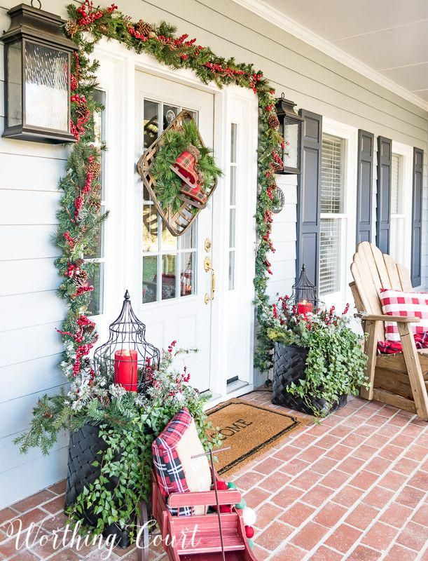 Welcome To My Festive And Cheery Christmas Front Porch #christmashomedecor - Welcome To My Festive And Cheery Christmas Front Porch Seasonal