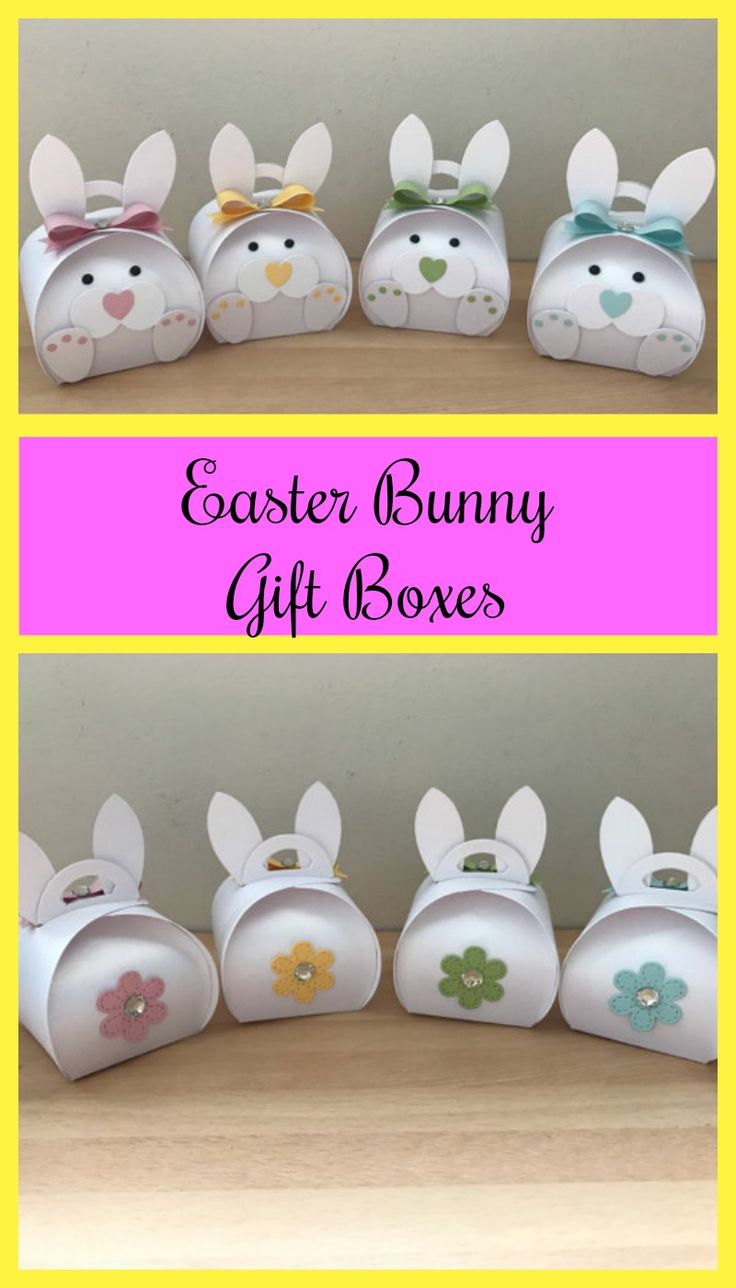 Cute Easter Bunny gift boxes found on Etsy #ad #Etsy #Easter