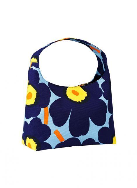 Marimekko Laukku Keltainen : Unikko glaudine laukku v sininen keltainen