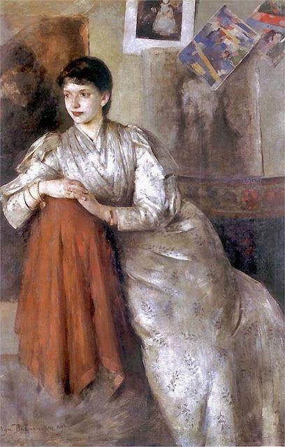 1890 Olga Boznanska (Polish Impressionist painter, 1865-1945)