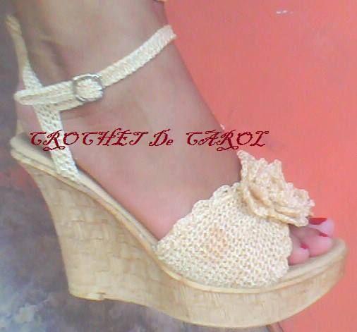 sandalias de mujer tejidas a crochet - Buscar con Google