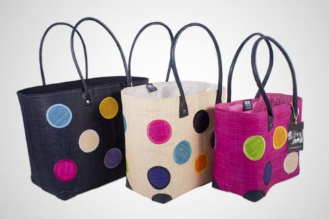 The ever popular and colourful Dots Madagascar Basket by BOO Enterprise