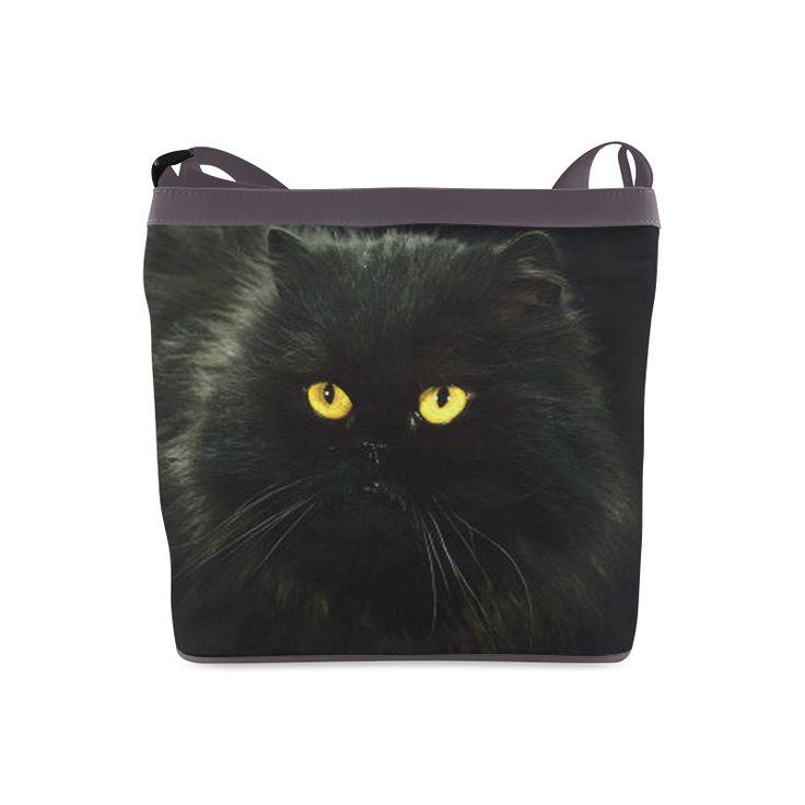 Black Cat Crossbody Bags (Model 1613)