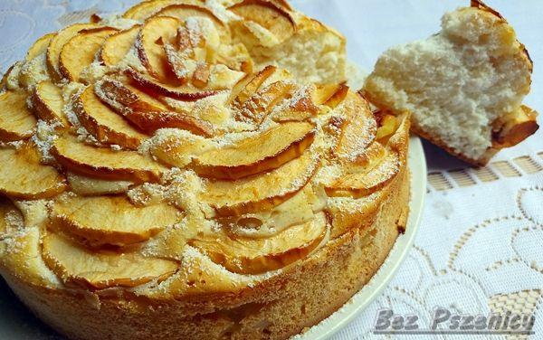 Bez Pszenicy: Ciasto drożdżowe z jabłkami (bezglutenowe, mąka zi...
