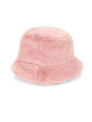 8f557e5e Steve Madden Faux-Fur Bucket Hat | Dream Closet in 2019 | Faux fur ...