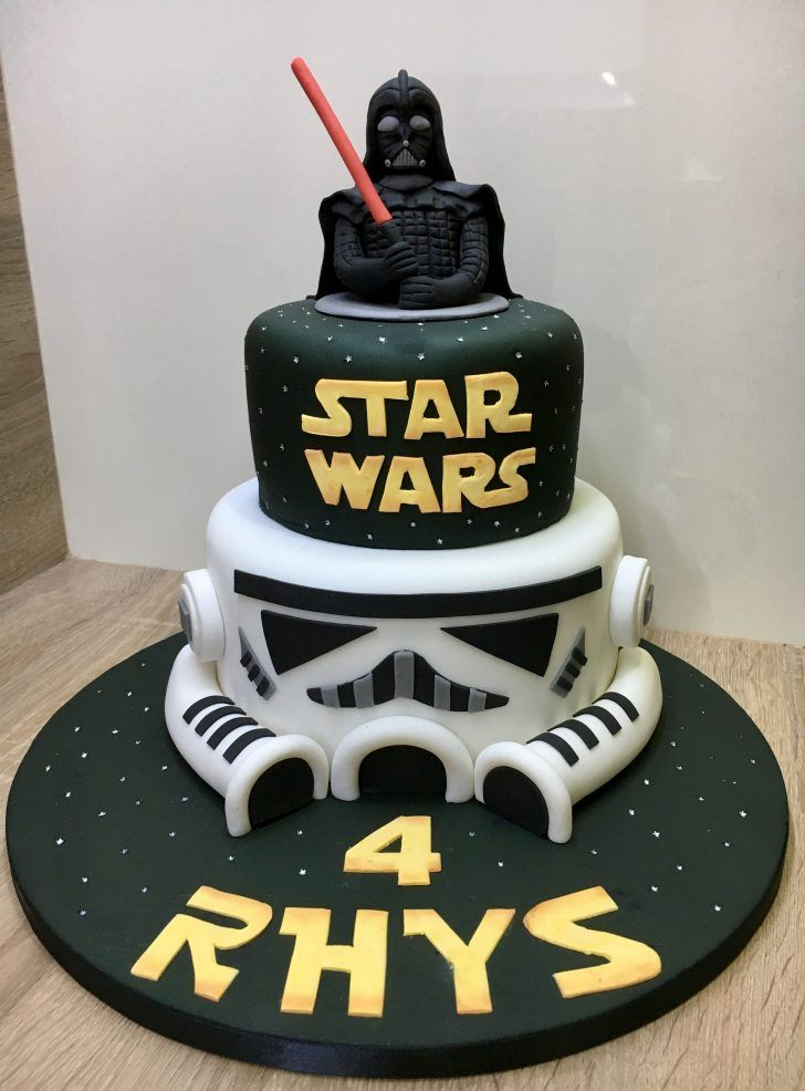 Awesome Star Wars Birthday Cake Ideas Star Wars Darth Vader Stormtrooper Personalised Birthday Cards Paralily Jamesorg