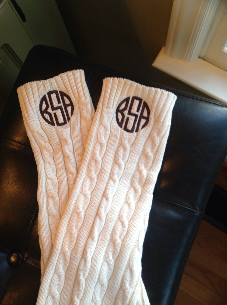 monogrammed boot socks ! Tiffany's & me
