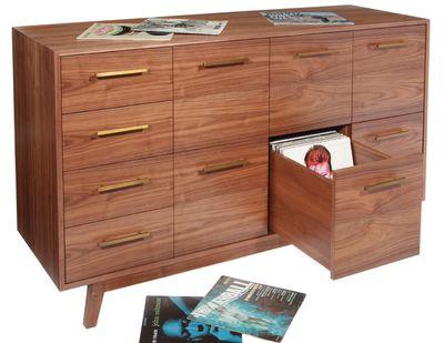 Inspirational Record Album Storage Cabinet