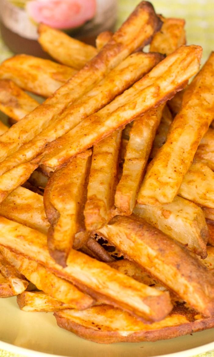 You are going to love these oven-baked homemade french fries! They are easy to make and taste as good (or better!) than the fried version!