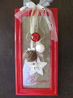 A Lott Of Ideas: { frame wreath } Christmas