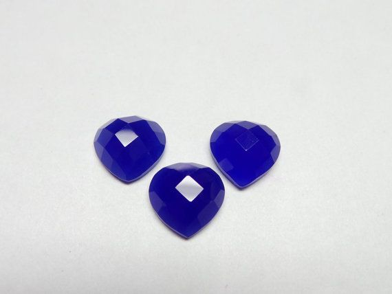 Superb Gorgeous Cobalt Blue Chalcedony 3 Pieces by StarGemBeads