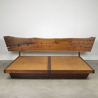 The angled ends make this piece!  >>> bed by George Nakashima