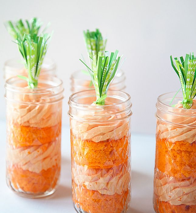 Make an actual Carrot Cake in a mason jar for personalized Easter brunch dessert options with this simple recipe.