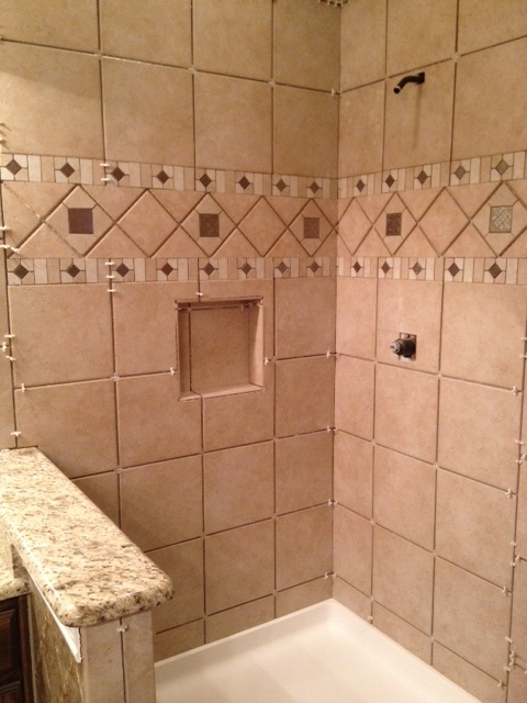 tile from lowes bathroom pinterest then and now lowes and tile