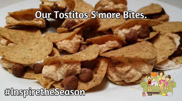 Here is my own Tostitos S'mores Bites creation we had this evening.  It was a super hit.  #InspiretheSeason #ad http://bit.ly/1vG2vDG