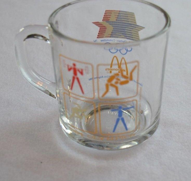 Mcdonalds 1984 Olympic Coffee Mug/cup Vintage