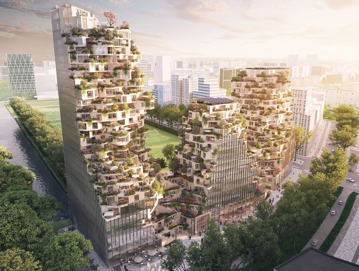 MVRDV and OVG win competition to build a vertical green village in Amsterdam