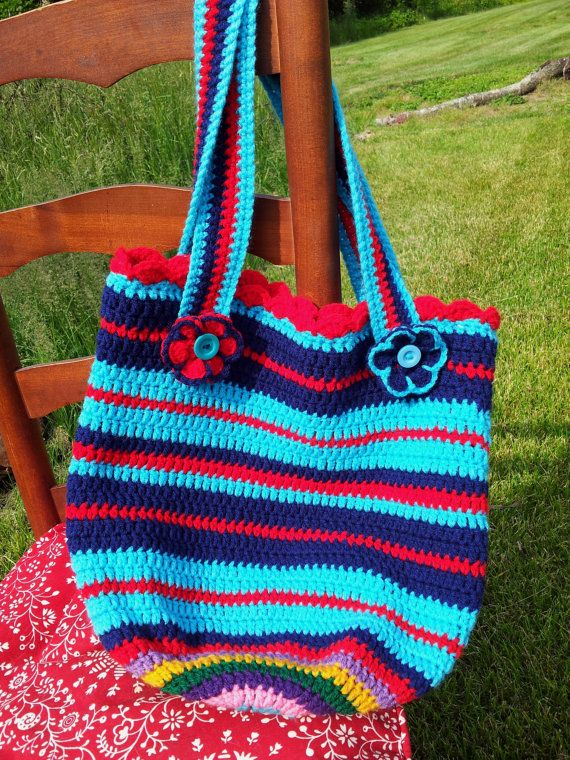 Beach Bag Crochet : Crochet bag, crochet tote, crochet beach bag, crochet market bag, cro ...