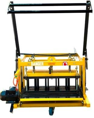 Hydraform V2LE. This machine is ideal for small business entrepreneurs wanting to produce bricks and blocks. Multiple blocks can produced by dropping blocks onto a level concrete slab.  Features + Egglaying on level concrete slab. + Interchangeable moulds + Produces a range of bricks and blocks + Great for smaller block yards + Static machine + 10 000 stock bricks per day