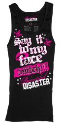 Say It To My Face Womens  Tank Top SubCulture Clothing Store
