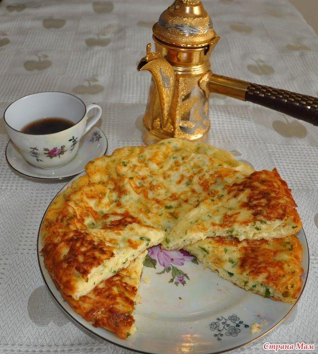 Готовим ленивый хачапури на завтрак.