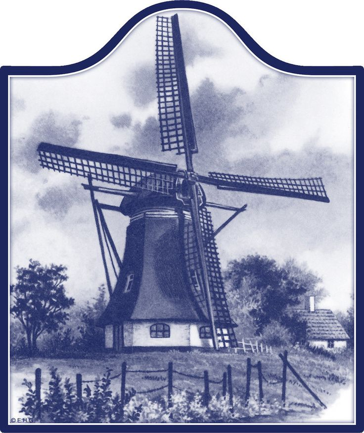 Ceramic Cheeseboard: Windmill - DutchNovelties  - 1